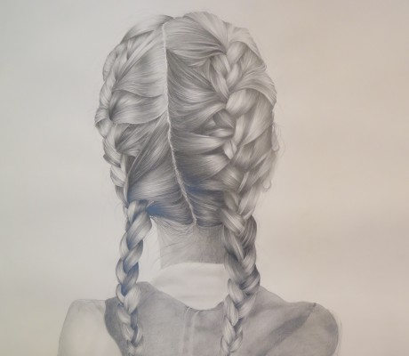 Plaits & Hood Pencil on 130 GSM Acid Free Cartridge Paper 59.4 x 84.1cm