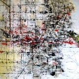 Dale Marshall, Toward the Ether (2012) Mixed media on canvas, 100 x 100 cm