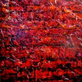 Dale Marshall, On Fire in Mateo, (2012) Mixed media on canvas, 100 x 100 cm