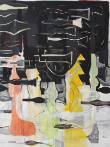 Laurence Owen, Frapping Halyards, oil on canvas. 200x150cm, 2014