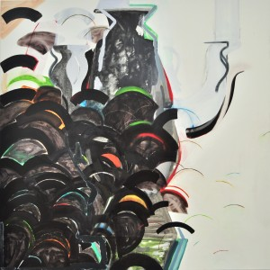 Laurence Owen, Perverted Font, oil on canvas. 135x135cm, 2013